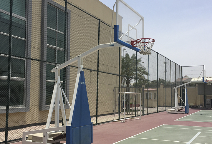 """Merano"" and ""Nogara"" free-standing competition basketball goals"