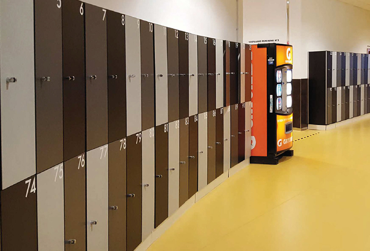 Phenolic changing room lockers