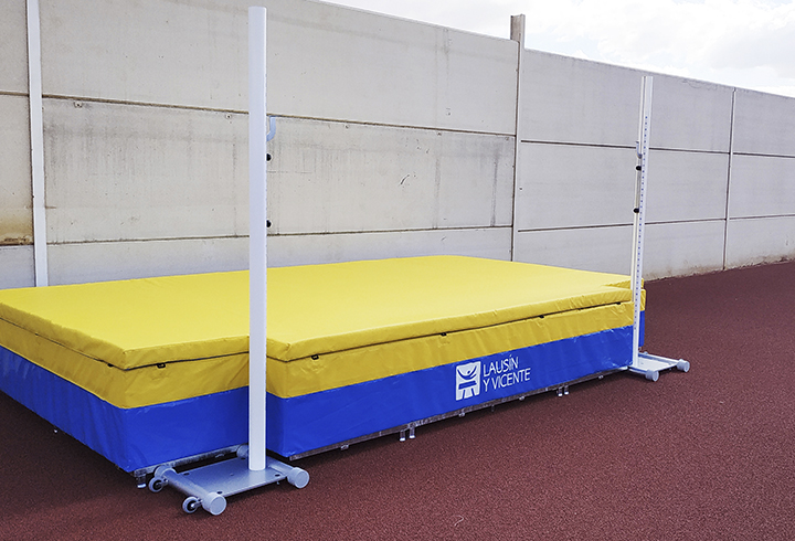 High jump stands. Competition